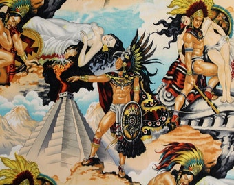 Alexander Henry Fabric - Aztec Legend