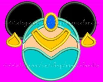 Cute jasmine miss mouse  Applique Design.   Instant Download. 2sizes