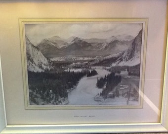 Vintage photo Bow Valley Banff (Alberta, Canada)