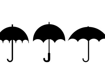 Umbrella SVG, Umbrella Clipart, Umbrellas Clip Art, Umbrella Silhouette Clipart, Digital Umbrella ,  SVG Files, png eps jpg