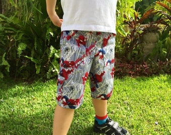 Boys Spiderman Multipocket Cargo Shorts