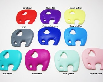 Extra Large Elephant Silicone Teether for Teething Necklace BPA Free Baby Toy Canadian Silicone Supply Wholesale Canada Discount