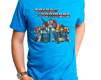 Autobot Crew (HAS0204-101TEL) Transformers Men's T-shirt. Transformers, autobots, robots, comics, Optimus Prime, Roll Out, 80's tees.