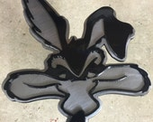 Custom coyote hitch cover