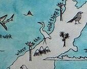Aotearoa NZ vintage map