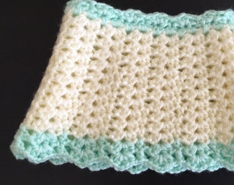 Handmade Crochet Skirt for American Girl Doll - Cream Yellow and Green - Item D12