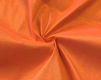"""Orange Taffeta Stretch Fabric 2-Way Stretch 58"""" Wide By The Yard"""