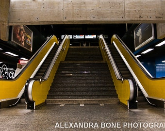 Yellow Escalators - large photo print