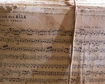 """PROMOTION: 37 Vintage music sheets """"Fantaisie sur Aida"""" Verdi"""