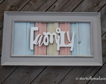 FINISHED Reclaimed Wood Family Sign