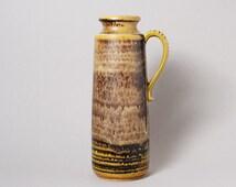 Vintage West German Pottery. Large Scheurich Vase with Brown Glaze. 1960s/70s.