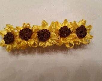 Sunflower Hair Clip, Flower hair clip, Hippie hair accessories