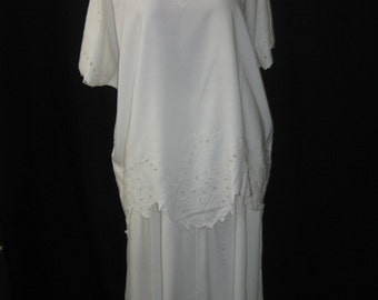 Ivory 2pcs top/skirt #688