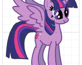 Twilight Pony Embroidery Design