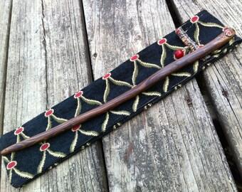 Hemlock Magic Wand with Red Jasper
