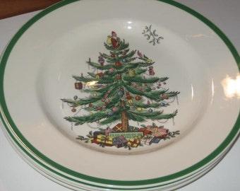 sale from 17500spode christmas tree green trim dinner setplates salad plates