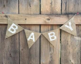 BABY Burlap Banner - Customize!