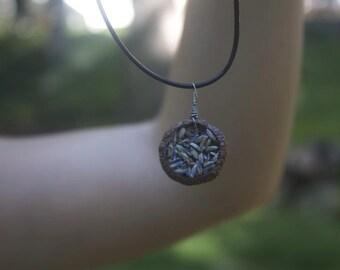 Lavender-Filled Acorn Necklace