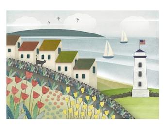 "Seascape Giclee Print - ""The Lighthouse"""