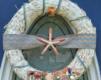 Nautical Straw Wreath