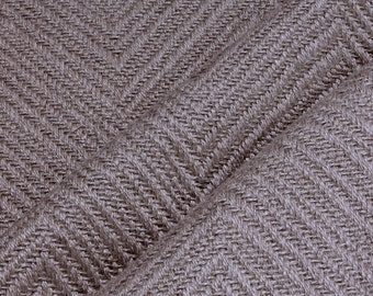 Fabric linen cotton polyester herringbone taupe upholstery 35.000 Martindale