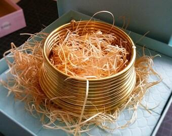 Tawapa Brass Karen Necklace Collar Stacked Rings