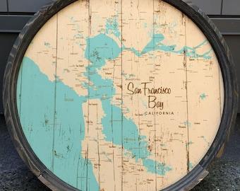 San Francisco Bay, CA Map Barrel End