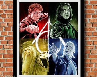 """Harry Potter """"Always"""" Collage Digital Painting Print"""