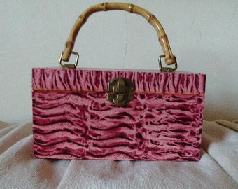 Perfect purse vinegar painted in red