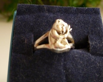 Baby Panda Ring in .925 sterling silver