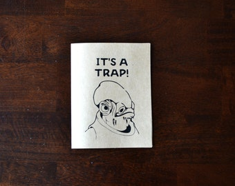 s a l e || it's a trap! || star wars || greeting card || just because || star wars greeting card || admiral ackbar || FREE shipping