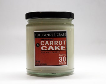 Carrot Cake 8 Ounce Scented Soy Wax Candle