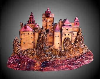 Dracula's Castle Wall Sculpture
