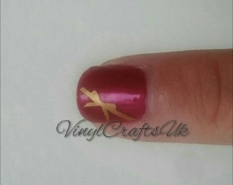 Bow Nail Stickers x30