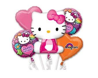 Hello Kitty Rainbow Balloon Set
