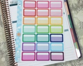 Split Half Boxes Stickers! 1 punched sheet, for your Erin Condren Life Planner, Plum Planner,  Filoflax, calendar