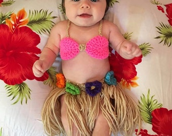 Baby Girl Hawaiian Hula outfit ...
