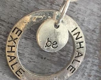 INHALE EXHALE & BE Pendant Necklace