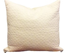 White off white quilted textured cushion cover