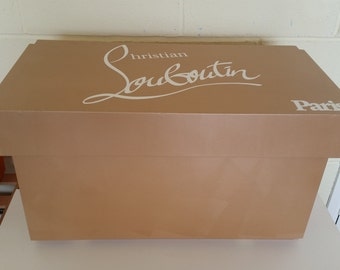 XL Shoe Storage Box, Christian Louboutin Giant Shoe Box, With Lining (fits 6
