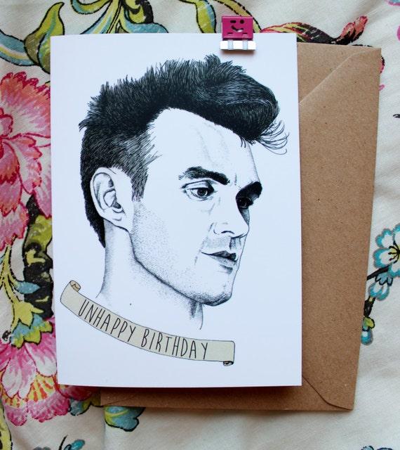 morrissey birthday card, Birthday card