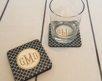 Monogrammed/Personalized Set of 4 Coasters