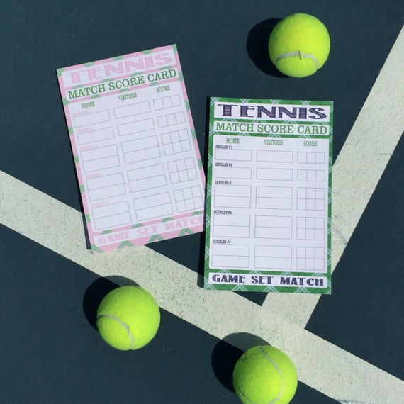 tennis match score card for doubles and singles
