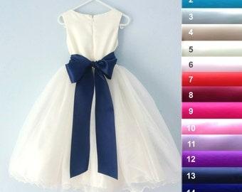 "Satin sash 17 colors, Flower girl sash, Satin sash 3"", Maternity sash, Bridesmaid belt, Wedding sash, Satin belt 8 cm x 2 m, Satin ribbon 3"""