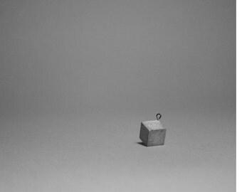 Concrete Cube Pendant