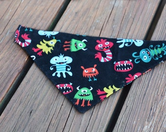 Monster Mash Slip Over Collar Bandana