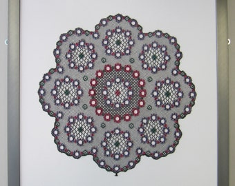 Lace Fibre Art - Circles II