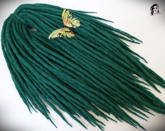"Wool Dreadlocks Dreads "" Emerald Forest "" DE"