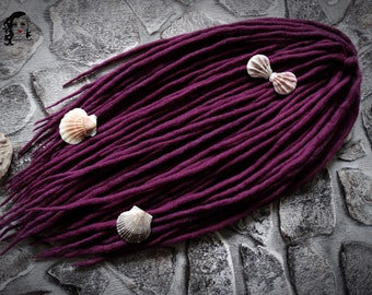 "Wool Dreadlocks Dreads "" Royal Purple "" DE"