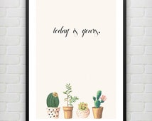 wall art + prints   dorm decorations   cactus + quotes + photography + cursive   urban outfitters-style   printable   instant download